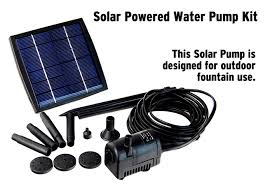 photos of solar water fountain pump kit