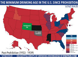 Minimum Prohibition In America Age Drinks Infographics States Since State Map Map Animated Drinking Alcohol Every The
