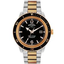rotary rose gold plated two tone ocean avenger gb90096 04 rotary rose gold plated two tone ocean avenger gb90096 04