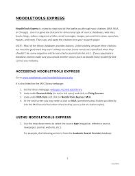 Noodletools Express Manualzzcom