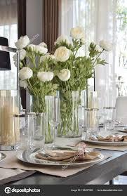 Elegante Tisch Im Vintage Stil Esszimmer Interieur