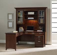 enchanting hutch office desk with l shape table top combined twin wall cabinet plus