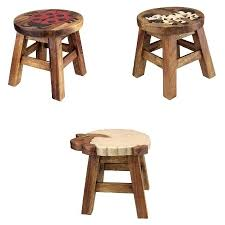 High quality vintage hand crafted and hand painted kids solid wood stool