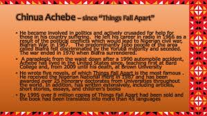 "things fall apart chinua achebe since ""things fall apart"""