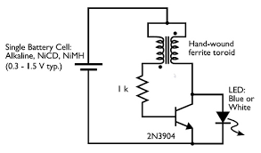 weekend projects bre pettis make a joule thief evil mad weekend projects podcast in the circuit diagram for