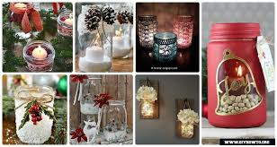 Mason Jars Decorated For Christmas DIY Christmas Mason Jar Lighting Craft Ideas [Picture Instructions] 1