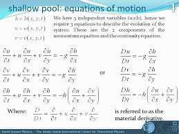 continuity equation physics. shallow pool: equations of motion we have 3 independent variables (u,v, continuity equation physics