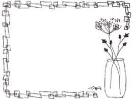 Webデザイン素材フレーム北欧の茶色の花のイラスト素材 Webデザイン