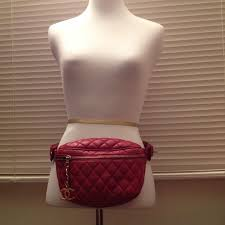 chanel fanny pack. authentic chanel red fanny pack waist bag