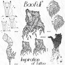Baofuli Geometrické Diamond Vytí Nést Dočasné Tetování Nálepka šrot