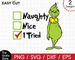 Naughty/nice svg file, christmas svg, digital download for cricut and silhouette (includes svg, dxf, eps, pdf, png file formats) sewsweetparadise. Naughty Or Nice Svg Etsy