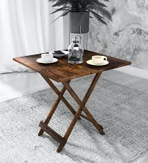 harmony solid wood folding table in