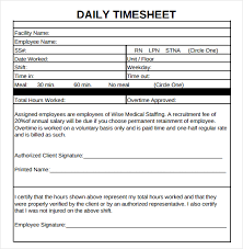 daily timesheet template free printable 20 daily timesheet templates free sample example format download
