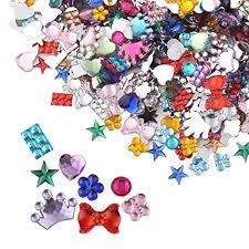 meicry beads 880 Pcs Gems Acrylic Flatback ... - Amazon.com