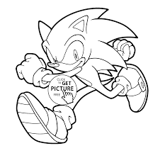 Small Picture Sonic runs coloring pages for kids printable free coloing 4kidscom