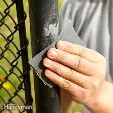 touch up a scuffed vinyl coated chain link fence
