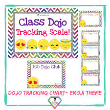 Teacher Resource Emoji Theme Dojo Tracking Charts The Teacher Hero
