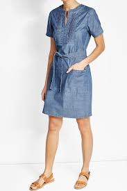 a p c denim dress with belt blue women apc mink fur coat prestigious