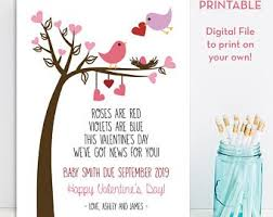valentines day pregnancy announcement cards personalized valentines day pregnancy announcement etsy