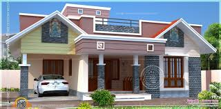 Kerala Small Home Plans Story House Roof Deck Elegant Style Of With ...
