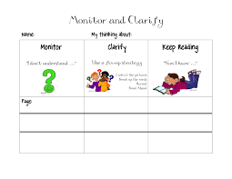 Monitor And Clarify Anchor Chart Monitor And Clarify Printable Teaching Reading Strategies