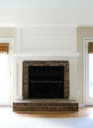 diy covering brick fireplace fireplace redo cottage chic brick white fireplaces mantels
