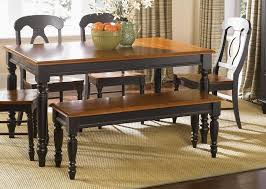 narrow country kitchen table and chair set with bench