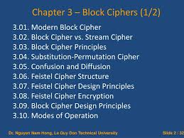 Block Cipher Design Principles Ppt Cryptography And Information Security Powerpoint