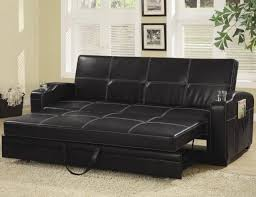 black elegant pull out sofa bed with storage