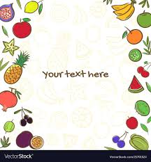 Cute Template Fruits Cute Banner Background Template With Copy Vector Image