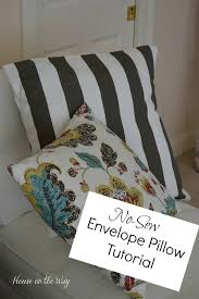 No Sew Envelope Pillow Covers