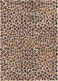 edge leopard print rug black animal well woven