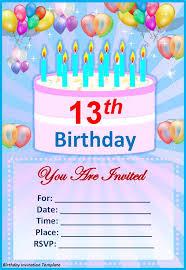 free 13th birthday invitations make your own birthday invitations free radiovkm tk