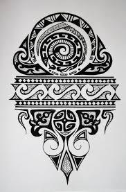 эскиз тату фото орнамент племен полинезии с узорами татуировки и
