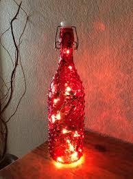 Decorative Bottle Lights Decorative Bottle Red Light Red Bottle Unique Light Unique Bottle Home Decor Birthday Gift Accent Light Red Bottle Light