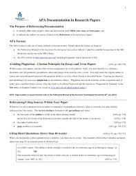 Apa Documentation In Research Papers Citation Apa Style