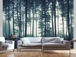 Foto Wallpaper Dark Forest Bos En Bomen Landschappen Fotobehang