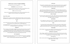 Microsoft Word Construction Contract Template Construction Service