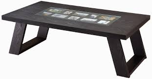 coffee table coffee tables wood and natural fiber wood black color combination of glass