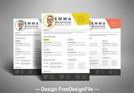 Pikbest has 72 colorful resume design images templates for free. Colorful Resume Layout Vector Free Download