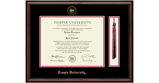 temple university gold embossed diploma frame features solid wood studio moulding officially licensed 11h x 14w