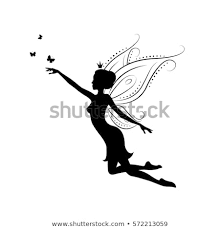 Silhouette Fairy Template Fairy Cut Laser Stock Vector Royalty Free