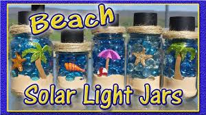 Homemade Solar Lights Diy Solar Light Jars Beach Theme Youtube