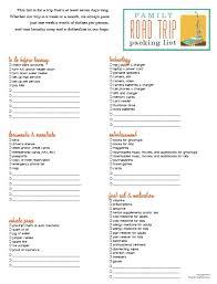 Travel Checklist For Family Under Fontanacountryinn Com