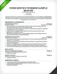 Assistant Manager Restaurant Resume Enchanting Resume For Food Service Sample Resume Food Service Restaurant