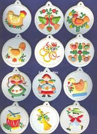 12 days of Christmas Ornaments - these are getting old but all 12 have  survived with