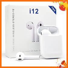 Tai Nghe Bluetooth Chính Hãng I12 Không Dây Nhét Tai Phụ Kiện Tai Nghe Điện  Thoại IOS Và Android Siêu Hay