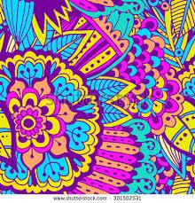 Beautiful Patterns Unique Hand Drawn Bright Beautiful Pattern Pattern Stock Vector Royalty