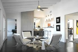 Modern bright living room Half And Half The Spruce 21 Modern Living Room Design Ideas