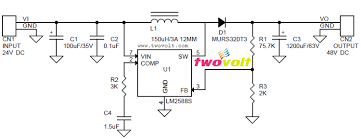 circuit diagram of lm2585 dc to dc converter wiring diagrams step up dc dc converter 48v dc 1 5a output from 24v dc input lm2588 circuit diagram of lm2585 dc to dc converter